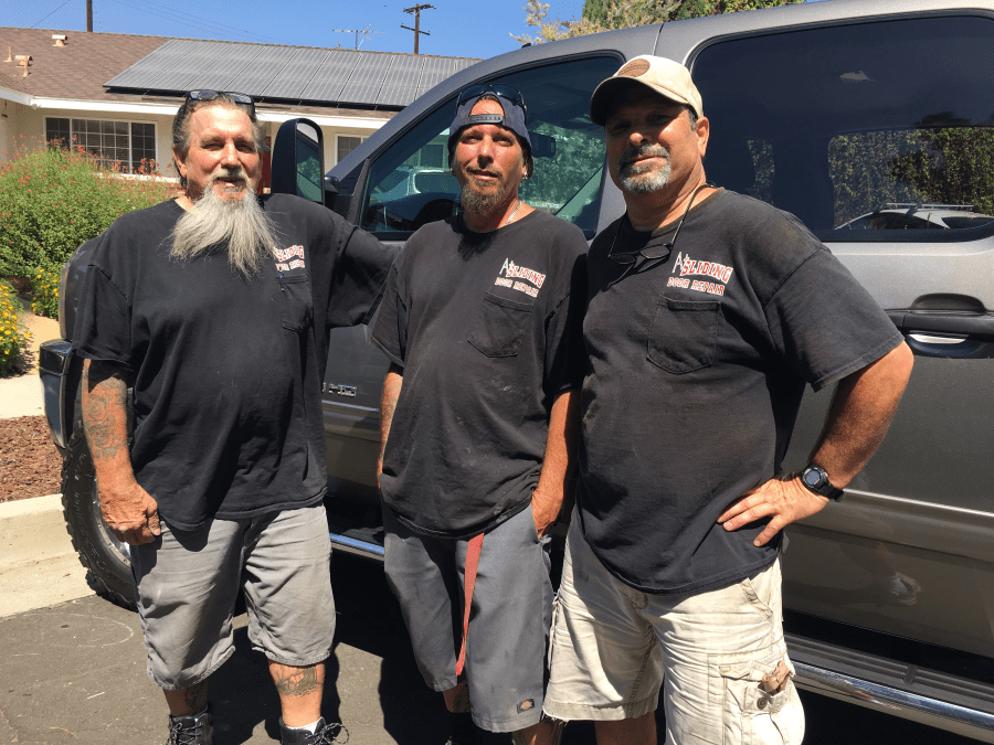 Terry, Jay and Jerry after another successful sliding door repair.